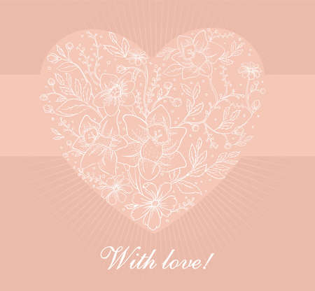 Vector illustration of Floral heart Stock Vector - 14864914