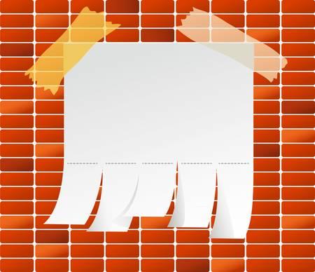 Vector illustration of Brick back