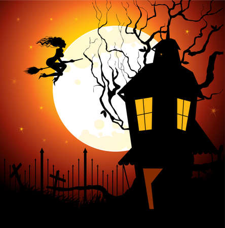 Halloween back Stock Vector - 14867304