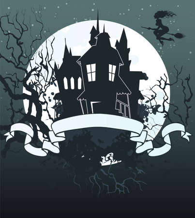 Vector illustration of Halloween back Vector