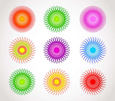 Vector illustration of Set of abstract color sphere  Vector