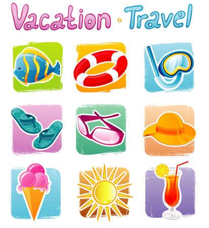 hawaii islands: Travel icons