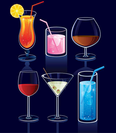 drunk party: Cocktails icons