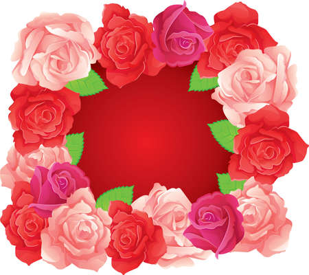 Vector illustration of Background with beauty roses Vector
