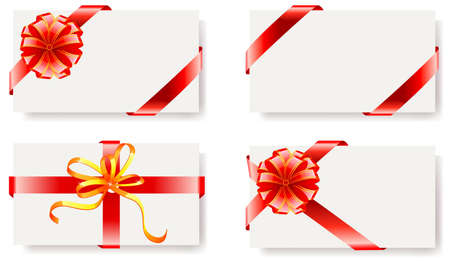 regard: Vector illustration of card with ribbons Illustration