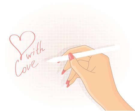 draftsmanship: Hand writing, vector