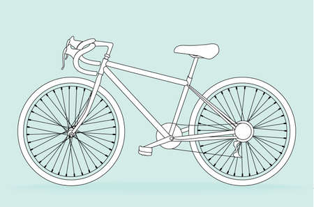 Bicycle, vector illustration Vector