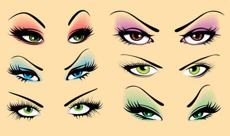 globo ocular: Juego de ojos Vectores