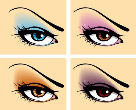 eyesight: Set of eyes Illustration