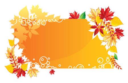 Autumn leafs back, vector illustration Stock Vector - 14867576
