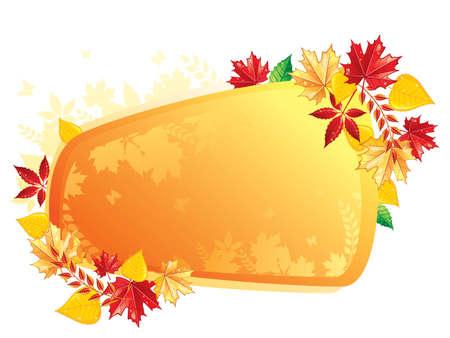 seasonal forest: Autumn leafs back, vector illustration Illustration