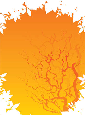 Autumn leafs back, vector illustration Stock Vector - 14867372