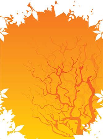 Autumn leafs back, vector illustration Stock Vector - 14867372