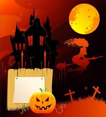 Vector illustration of Halloween back Stock Vector - 14867404