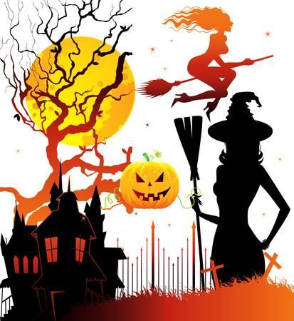 Vector illustration of Halloween back Stock Vector - 14867410