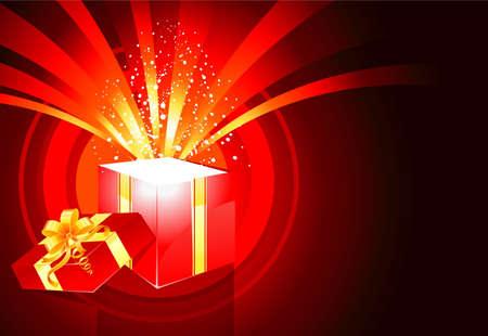 magic box: Christmas present box magic