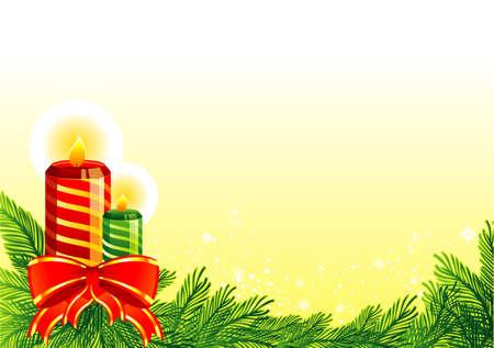 spangles: Christmas candles