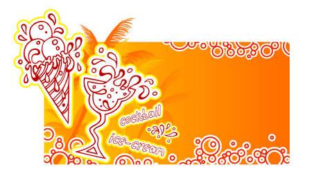 orange juice glass: Summer cocktails banner