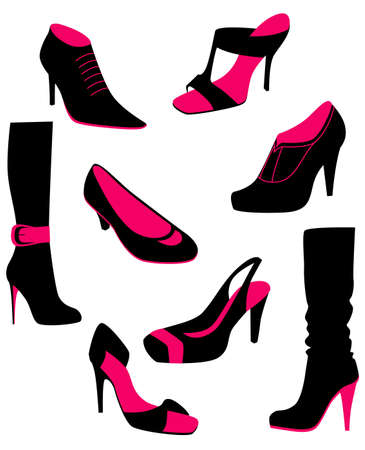 Women shoes, vector Vector