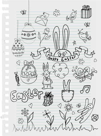 Vector illustration of Easter templates Vector