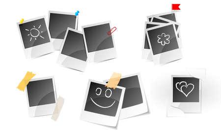 Illustration of set a photo frame