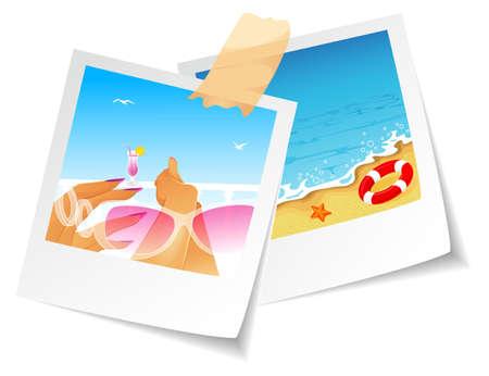 Vector illustration of Summer photo Stock Vector - 14867572