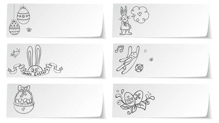 Vector illustration of Stickers set easter Vector