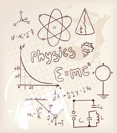 medical drawing: Physics set Illustration