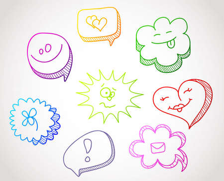 Vector illustration of Color speech bubbles Vector