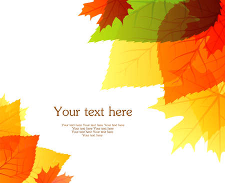 Vector illustration of Autumn leafs back Vector