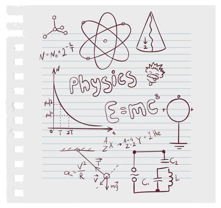quantum: Vector illustration of Physics set