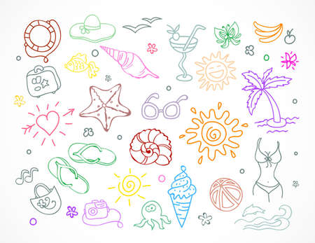 Vector illustration of  Travel doodles set Stock Vector - 15163805