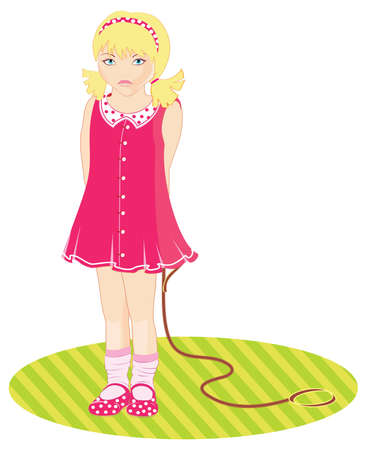 Little Girl Stock Vector - 15229759