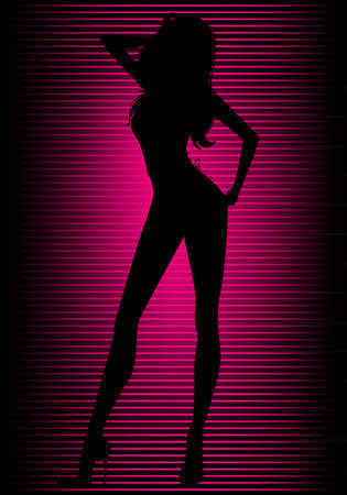 silhouette danseur: party girl
