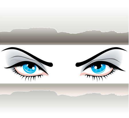 female sexuality: Women eyes Illustration