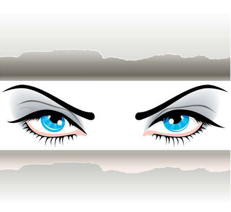 open eye: Women eyes Illustration