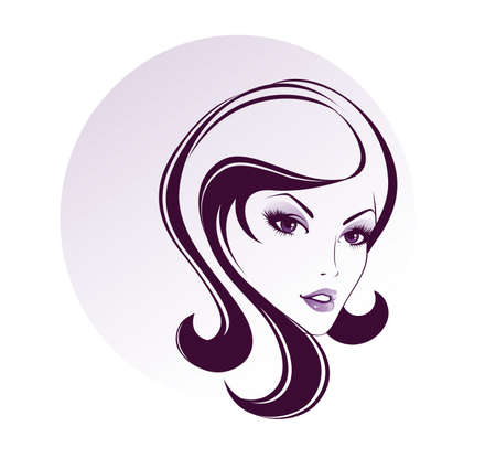 Vector illustration of Beauty woman pic Vector