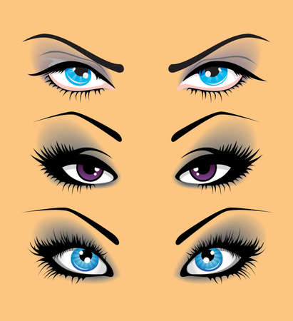 Set of eyes Stock Vector - 15224702