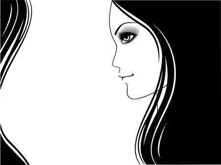 Vector illustration of Beauty woman pic Stock Vector - 15225401