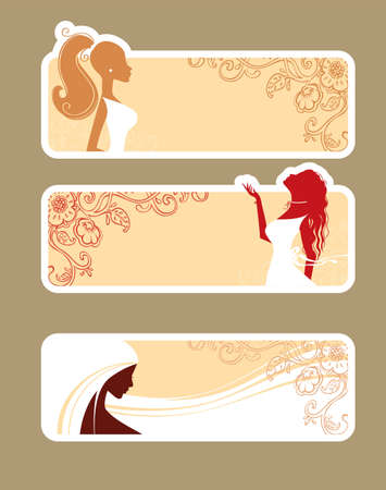 Woman s silhouette Vector