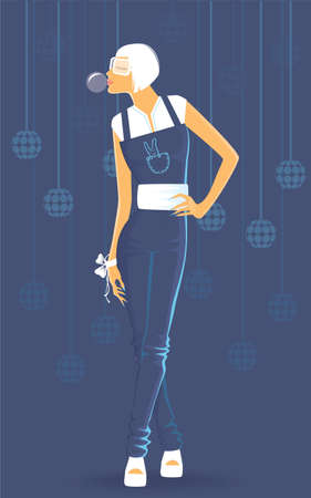 Vector illustration of Beauty woman Vector