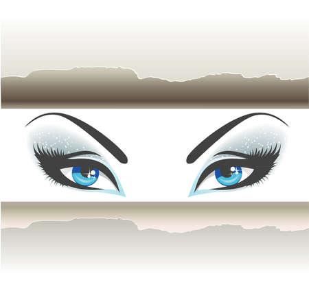 olhos castanhos: olhos Ilustração