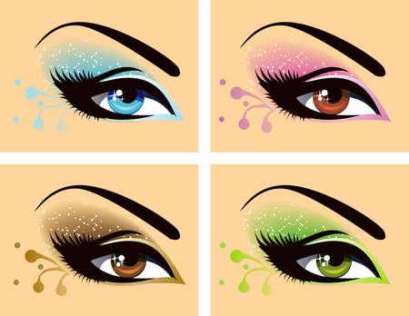 eye shadow: eyes