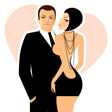 Vector illustration of elegance couple Vector