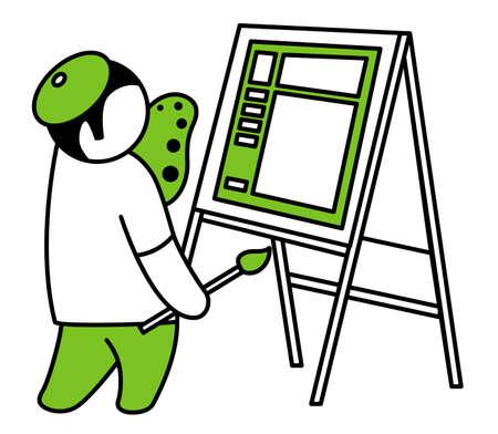 Vector artist Stock Vector - 15174843