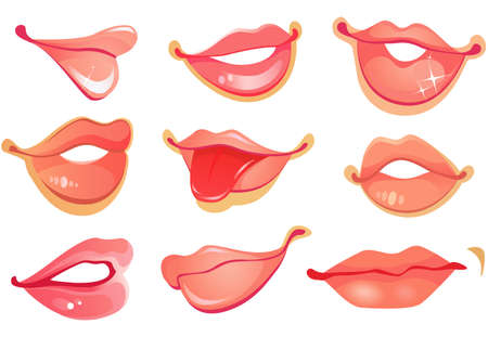 Set of lips Vector
