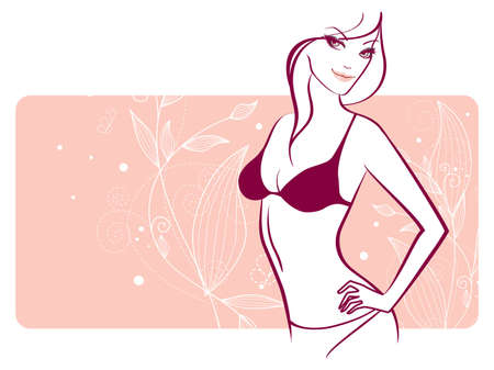 Vector illustration de femme de beaut� florale