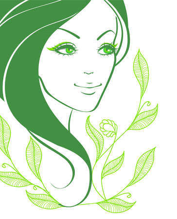 Vector illustration of Beauty floral woman Stock Vector - 15174867