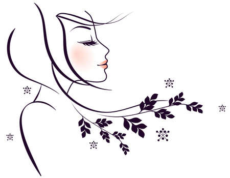 Vector illustration of Beauty floral woman Stock Vector - 15174859