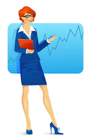Vector illustration of Businesswoman speaking Stock Vector - 15174919